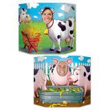 """Fotowand """"Schweinchen und Kuh"""" 94 x 64 cm"""