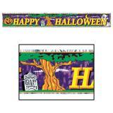 """Fransen-Girlande """"Happy Halloween"""" 150 cm"""