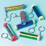 Funkelnde Schlüsselanhänger mit Kaleidoskop 12er Pack