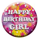 "Geburtstags-Button ""Birthday Girl"""