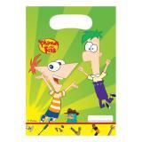 """Geschenk-Tütchen """"Phineas und Ferb"""" 6er Pack"""