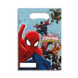 """Geschenk-Tütchen """"Spiderman - Web Warriors"""" 6er Pack"""