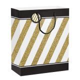 """Geschenktüte """"Black & Gold"""" 30,5 cm"""