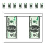 Girlande 100-Dollar-Scheine 370 cm