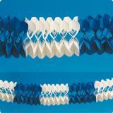 Girlande Blau-Weiß 10 m