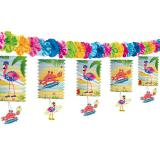 "Girlande ""Flamingo Party"" mit Laternen 3,6 m"