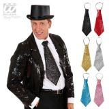 Glitzer-Krawatte 40 cm