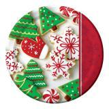 """Große Pappteller """"Weihnachtsbäckerei"""" 22 cm 8er Pack"""