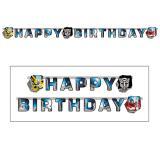 "Happy Birthday-Girlande ""Transformers"" 180 cm"