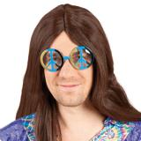 Hippie Partybrille Peace 14,5 cm