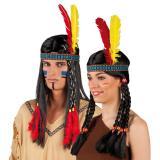Indianer-Stirnband mit Federn 26 cm