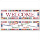 "Banner Welcome ""Internationale Flaggen"" 2-tlg."
