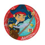 "Kleine Pappteller ""Captain Jake & die Nimmerland Piraten"" 8er Pack"