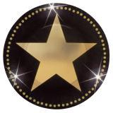 "Kleine Pappteller ""Glamour Star"" 8er Pack 17,8 cm"