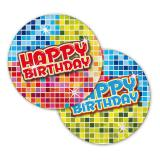 "Kleine Pappteller ""Happy Crazy Birthday"" 6er Pack"