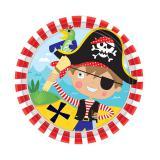 """Kleine Pappteller """"Kleiner mutiger Pirat"""" 8er Pack"""