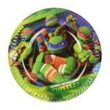 "Kleine Pappteller ""Ninja Turtles"" 18 cm 8er Pack"