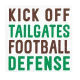 Kleine Servietten Football Game Time 16er Pack