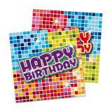 """Kleine Servietten """"Happy Crazy Birthday"""" 16er Pack"""