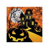 "Kleine Servietten ""Happy Halloween"" 16er Pack"