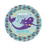 """Kleiner Pappteller """"Zauberhafte Meerjungfrau"""" 8er Pack"""