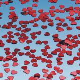 Konfetti rote Metallic-Herzen 15 g