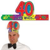 """Kopfschmuck """"40. Geburtstag"""""""