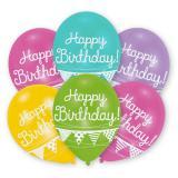 "Kunterbunte Luftballons ""Happy Birthday"" 6er Pack"