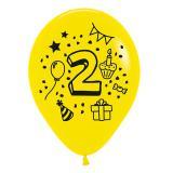 Kunterbunte Zahlen-Luftballons 7er Pack-2