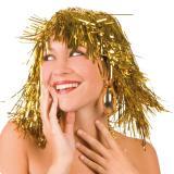 Lametta-Perücke-gold