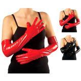 """Lange Handschuhe """"Lack-Optik"""" 56 cm"""