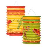 "Laterne ""Happy Fiesta"" 16 cm 2er Pack"
