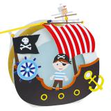"Laternen-Bastelset ""Piratenschiff"" 7-tlg."