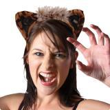 Leoparden Haarreif mit Ohren