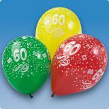 Luftballons 60. Geburtstag 5er Pack