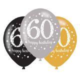 "Luftballons ""Funkelnder Geburtstag 60"" 6er Pack"