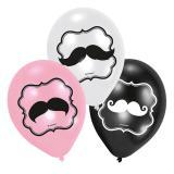 "Luftballons ""Süßer Schnäuzer"" 6er Pack"