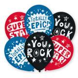 "Luftballons ""You rock"" 6er Pack"