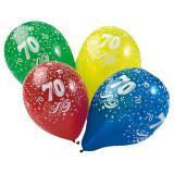 "Luftballons ""Bunter 70. Geburtstag"" 5er Pack"