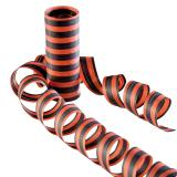 Luftschlangen orange/schwarz