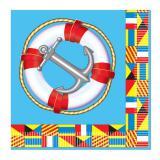 """Maritime Servietten """"Anker und Rettungsring"""" 16er Pack"""