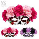 """Maske """"Dia de los Muertos"""" mit Rosen"""