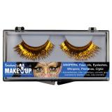 "Metallic Wimpern ""Glamour"" 3-tlg.-gold"