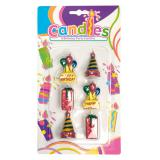 Mini Happy Birthday-Kerzen 6er Pack 4,5 cm