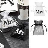 """Organza-Säckchen """"Mr & Mrs"""" 10er Pack"""