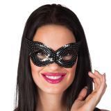 Paillettenbesetzte Augenmaske -schwarz