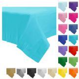 Einfarbige Papier-Tischdecke 137 x 274 cm-schwarz
