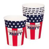 "Pappbecher ""American Party"" 6er Pack"