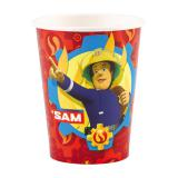 """Pappbecher """"Mutiger Feuerwehrmann Sam"""" 8er Pack"""