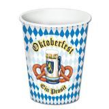 """Pappbecher Oktoberfest """"Ein Prosit"""" 8er Pack"""